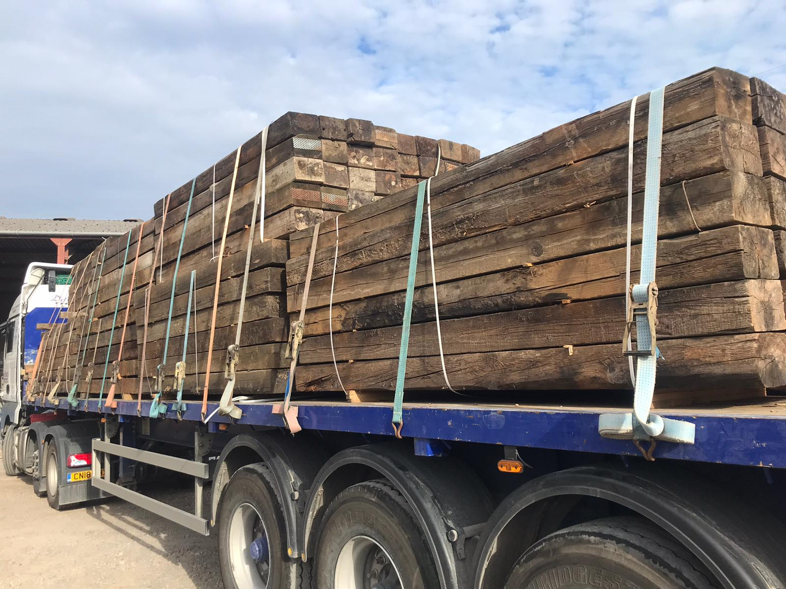 Reclaimed Railway Sleepers | Decking Delivery Bristol ...